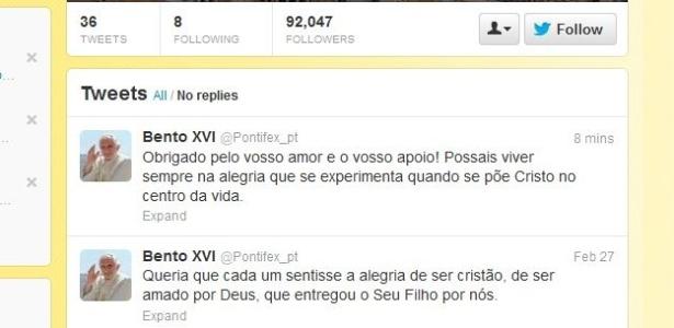 Papa emérito Bento 16 publica sua última mensagem no Twitter