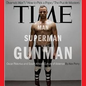 Oscar Pistorius na capa da revista Time