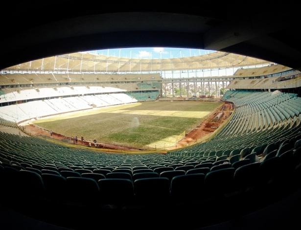 Visão de cima da Arena Salvador em fevereiro de 2013