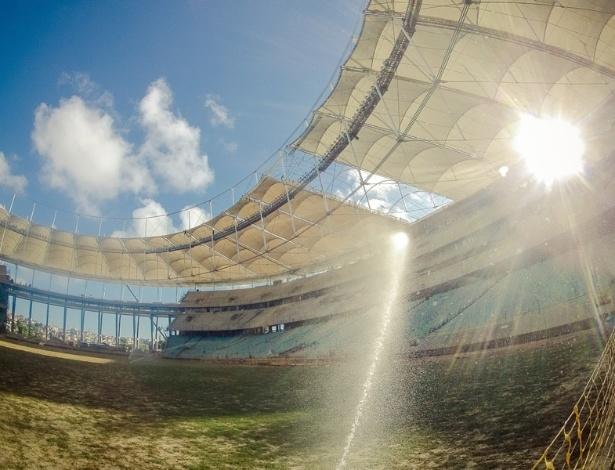 Visão do solo da Arena da Fonte Nova