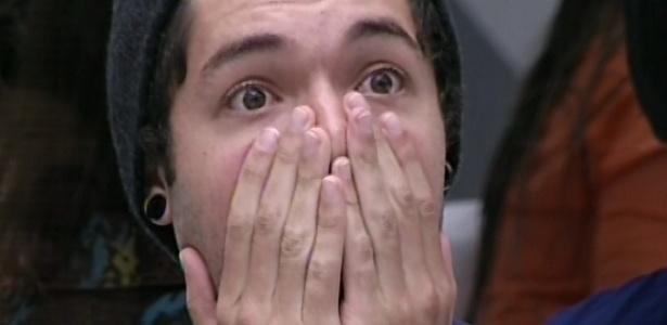 1º.mar.2013 - Nasser fica surpreso ao saber que é o novo líder da semana e indica Fani para o paredão