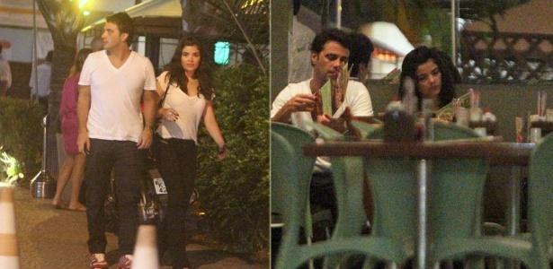 28.fev.2013 - Vanessa Giácomo vai com o namorado a restaurante na Barra da Tijuca, Rio de Janeiro