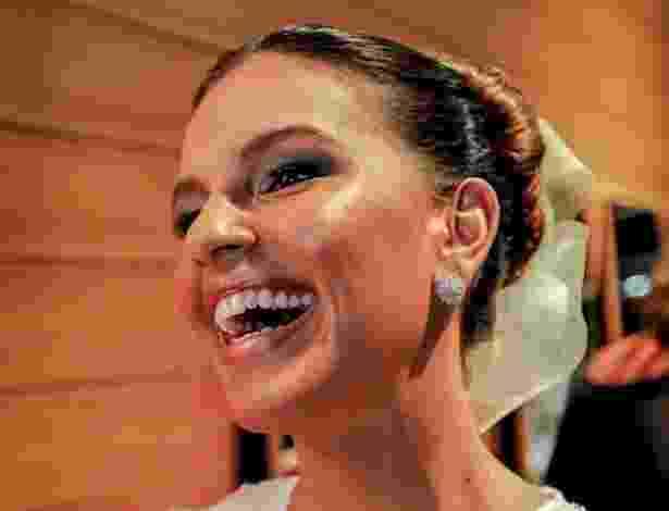 1º mar. 2013 - Estilista Martha Medeiros apresenta nova coleção na 2ª edição do Casamoda Noivas - Leandro Moraes/UOL