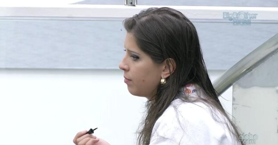3.mar.2013 - Andressa diz que torce para Marcello voltar do paredão