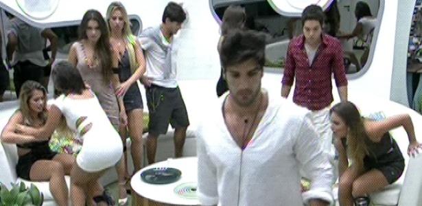 3.mar.2013 - Sem muita despedida e abraços, Marcello é o oitavo participante a ser eliminado do