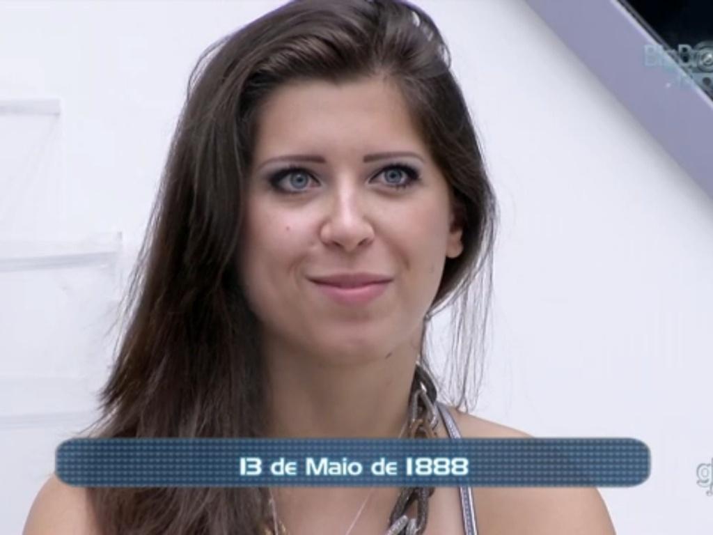 3.mar.2013 - Durante a prova do líder, Andressa não responde pergunta ao ser desafiada por Fani e é eliminada do jogo