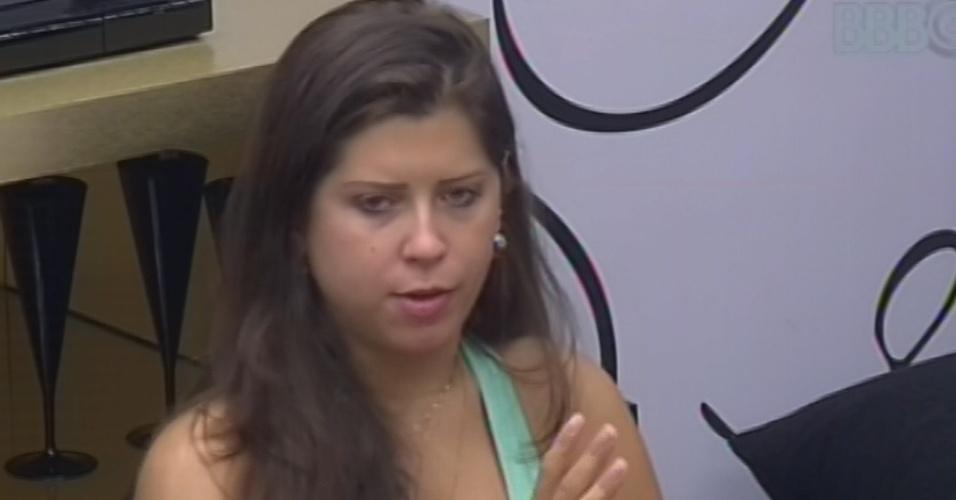 4.mar.2013 - Andressa conta a Fernanda sobre conversa que teve com Anamara mais cedo