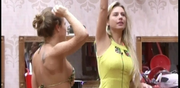 4.mar.2013 - Fernanda é sorteada na xepa para fazer as compras da semana