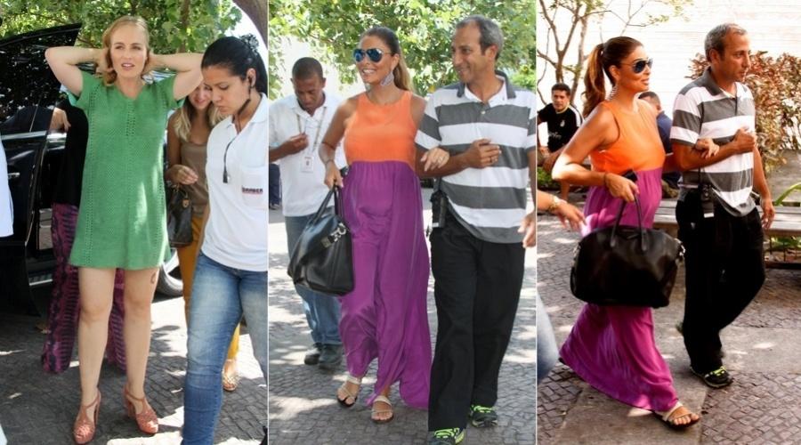 4.mar.2013 - Grávida de cinco meses, Juliana paes gravou participação no programa