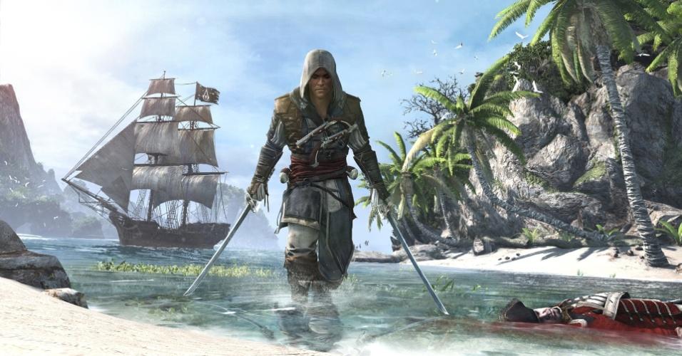 """""""Assassin's Creed IV: Black Flag"""" apresenta o pirata Edward Kenway, avô de Connor, de """"ACIII"""""""