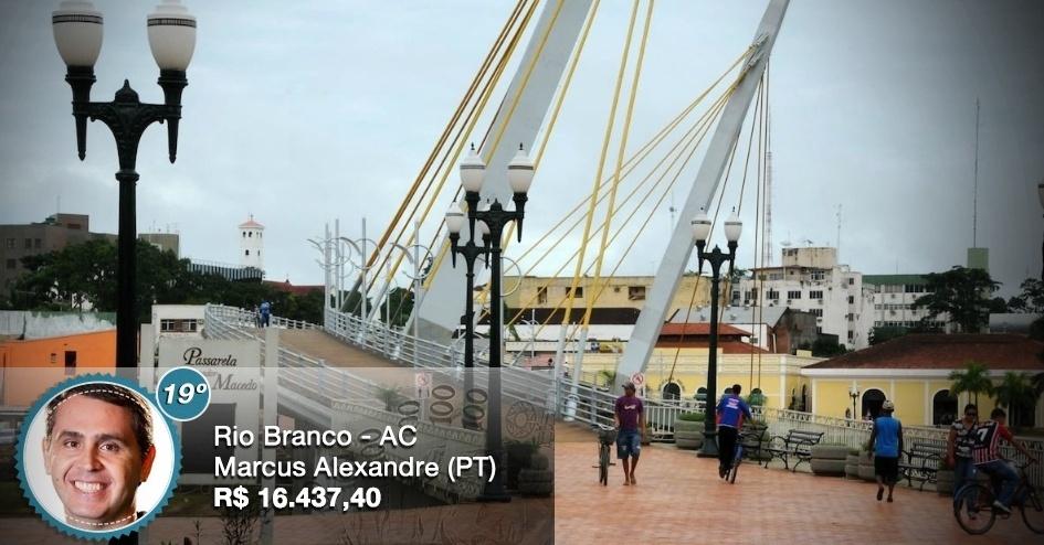 Com salário de R$ 16.437, 40, o prefeito de Rio Branco (AC), Marcus Alexandre (PT), recebe o 19º maior salário entre os prefeitos das capitais do país