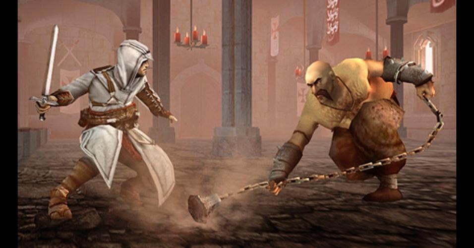 """Exclusivo para o PSP, """"Assassin's Creed: Bloodlines"""" é o elo entre os dois primeiros jogos da série."""