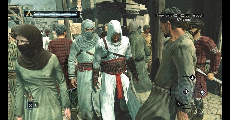 """Lançado em 2007, o primeiro """"Assassin's Creed"""" chamou a atenção pelo belo visual e pela história do assassino Altair."""