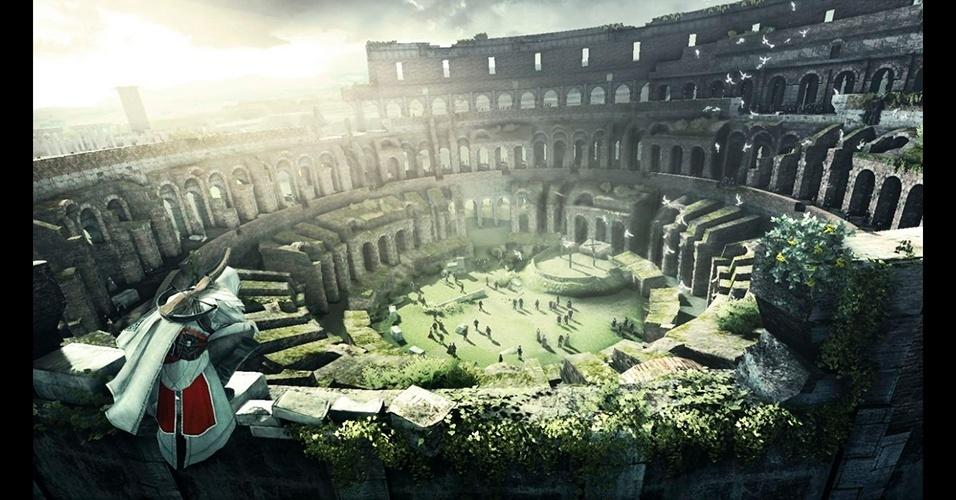 """Roma foi o cenário escolhido para """"Assassin's Creed: Brotherhood""""; game de 2010 estreou modo multiplayer."""