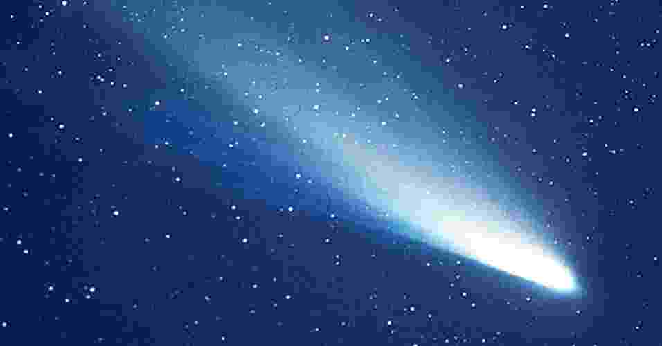 5.mar.2013 - O choque com um cometa, como o Halley (acima), pode ter trazido para a Terra elementos essenciais para o desenvolvimento da vida. Novo experimento da Universidade da Califórnia, em Berkeley, e da Universidade do Havaí, em Manoa, mostrou que há condições de se criar no espaço dipeptídeos complexos ? pares ligados de aminoácidos ? que são essenciais para a vida. Assim, abre-se a possiblidade de essas moléculas terem sido trazidas para a Terra por um cometa, o que catalisou a formação de proteínas (polipeptídeos), enzimas e até moléculas mais complexas como açúcares - Nasa