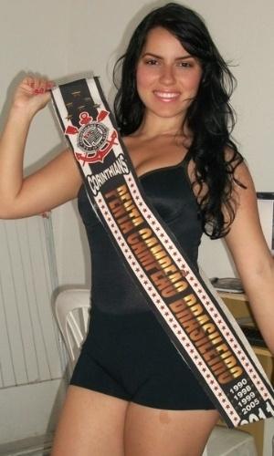 Jamile Pavlova se inscreveu para representar o Corinthians no Belas da Torcida 2013