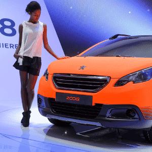 Peugeot 2008 de produção é apresentado no Salão de Genebra 2013 - Fabrice Coffrini/AFP