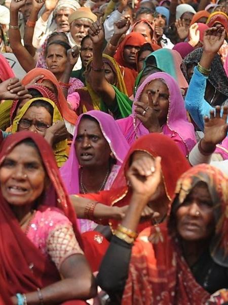 Ativistas dos direitos da mulher na Índia - Raveendran/AFP