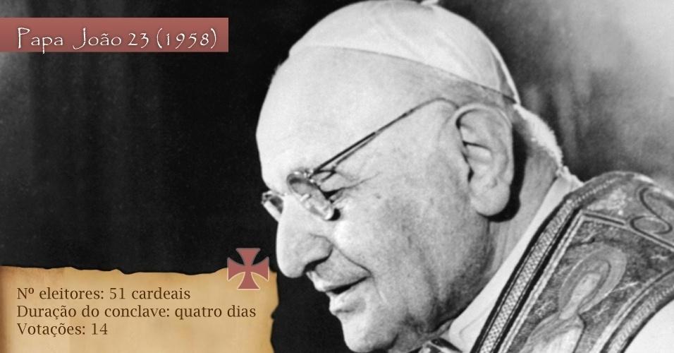 Em 1958, para eleger o João 23, foram 51 cardeais eleitores para 14 votações em quatro dias de conclave