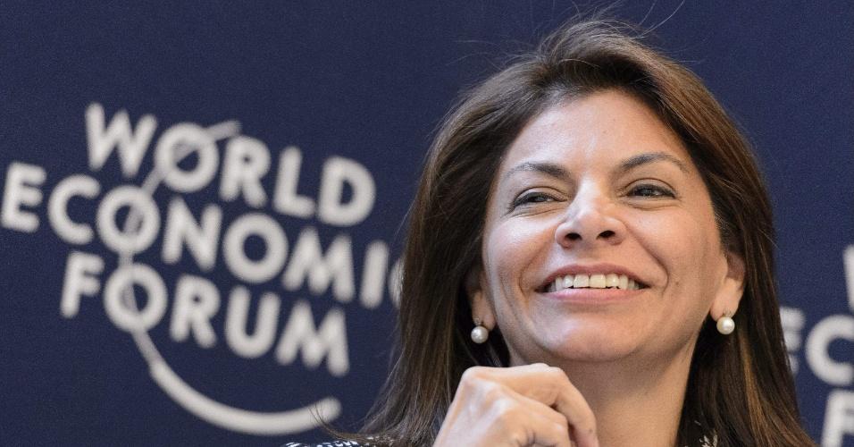 7.mar.2013 - A presidente da Costa Rica, Laura Chinchilla