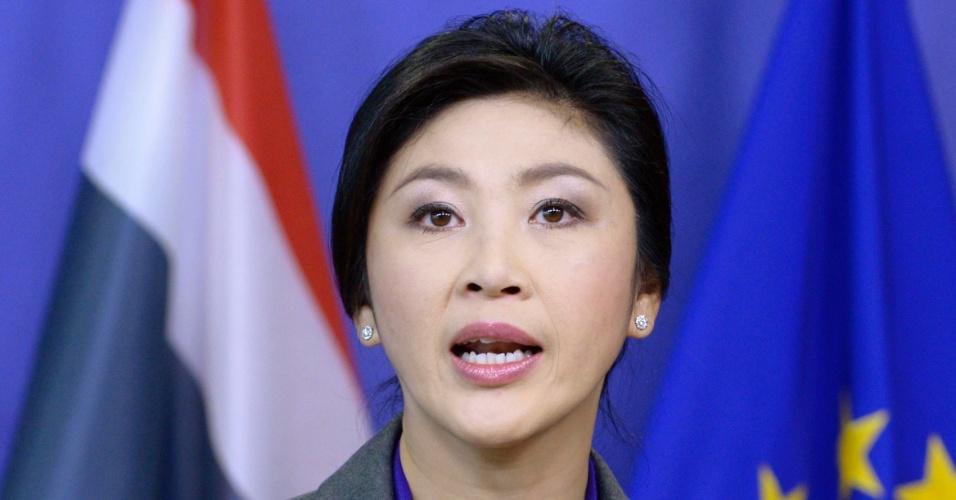 7.mar.2013 - A primeira-ministra na Tailândia, Yingluck Shinawatra. A empresária é a primeira mulher a assumir a chefia de governo no país asiático