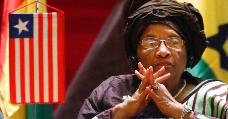 7.mar.2013 - Ellen Johnson-Sirleaf é presidente da Libéria. Foi a vencedora das eleições presidenciais de 8 de novembro de 2005, em que derrotou o ex-futebolista George Weah. Foi reeleita em 2011 para um novo mandato, venceu no prêmio Nobel da paz de 2011, juntamente com a compatriota Leymah Gbowee e a iemenita Tawakel Karman