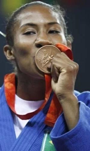 Ketlyn Quadros ? primeira mulher a ganhar uma medalha em esportes individuais para o país na história das Olimpíadas. A judoca conquistou a medalha de bronze nos Jogos Olímpicos de Pequim em 2008