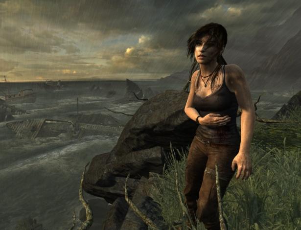 Lara Croft ganha vida no jogo por meio da tecnologia de captura de movimentos que acompanhou os gestos da atriz - Divulgação