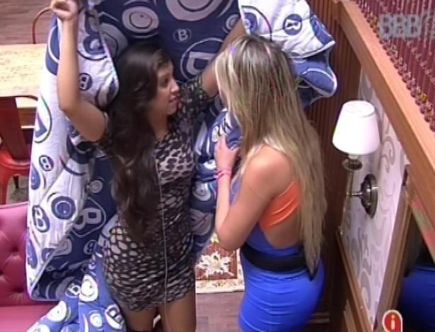 9.mar.2013 - Andressa e Fernanda dizem que vão fazer de tudo para que Nasser e André não sejam escolhidos pelo argentino para ir ao Gran Hermano