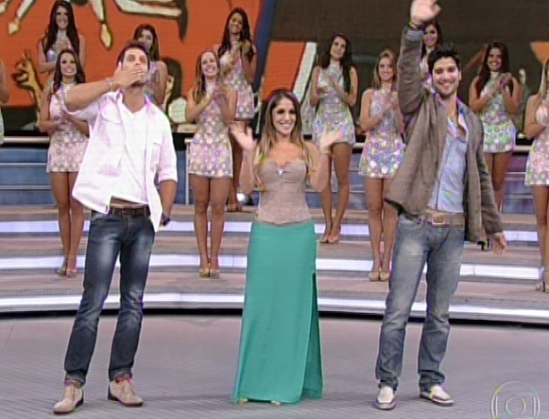 "10.mar.2013 - Eliéser, Anamara e Marcello participam do ""Domingão do Faustão"""