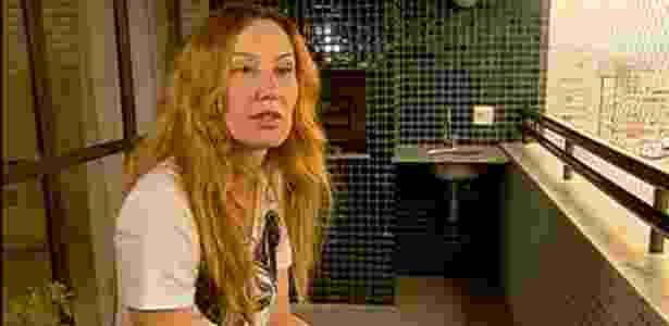 """10.mar.2013 - Graziela Gonçalves, viúva do cantor Chorão, fala ao """"Fantástico"""" sobre a morte do líder do Charlie Brown Jr - Reprodução/TV Globo"""