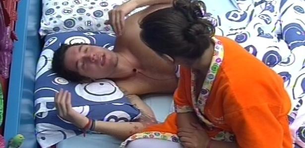 9.mar.2013 - Nasser e Andressa discutem por possível ida do brother à Argentina