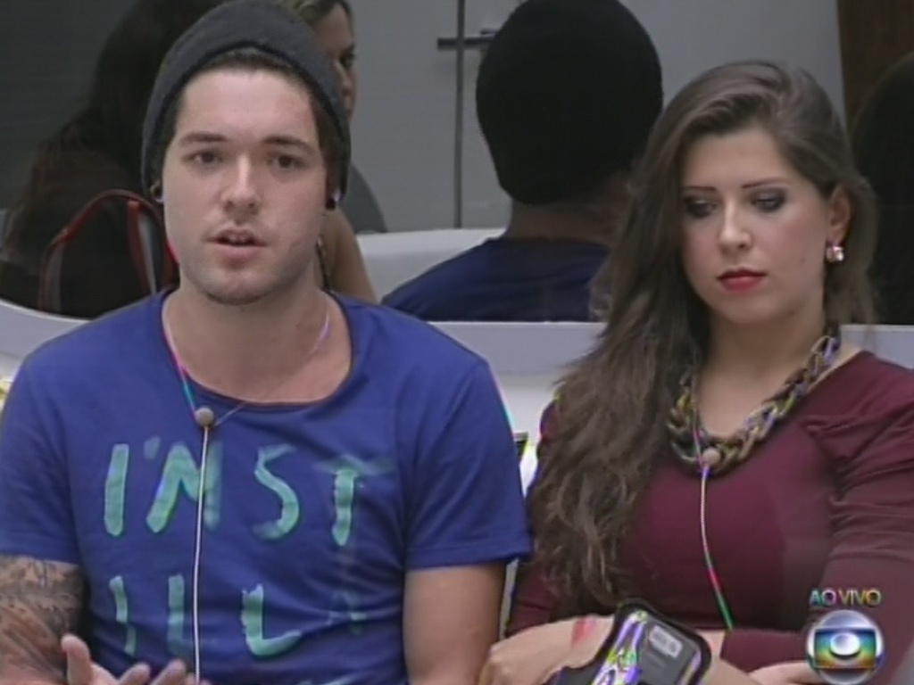 10.mar.2013 - Escolhido por André, Nasser revela que votou em Fani no décimo paredão do