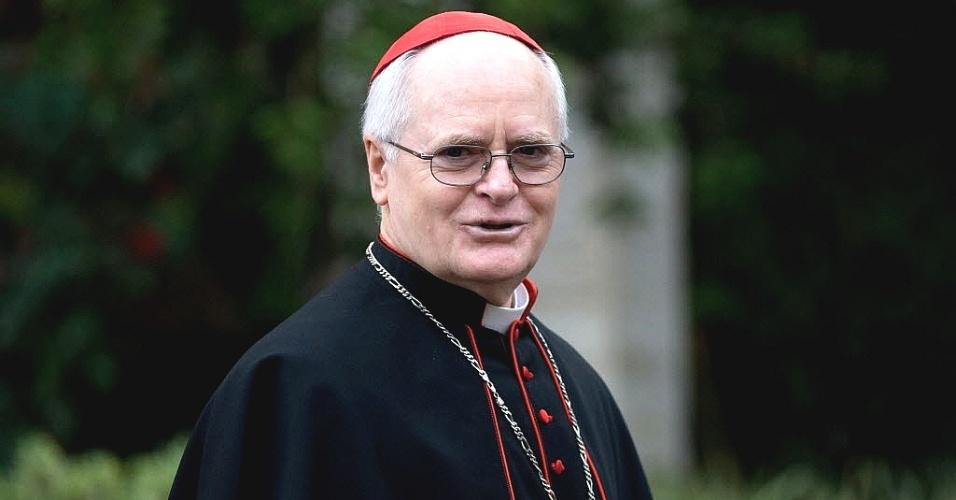 11.mar.2013 - Dom Odilo Scherer, arcebispo de São Paulo, chega ao Vaticano para o último dia de conversas antes do início do conclave que escolherá o novo papa