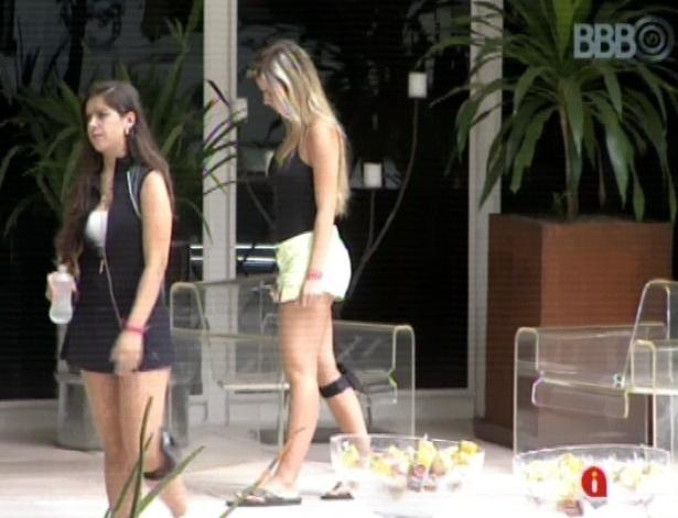 11.mar.2013 - Fernanda chama Andressa para conversar e a esteticista diz que votou em Kamilla para evitar um empate
