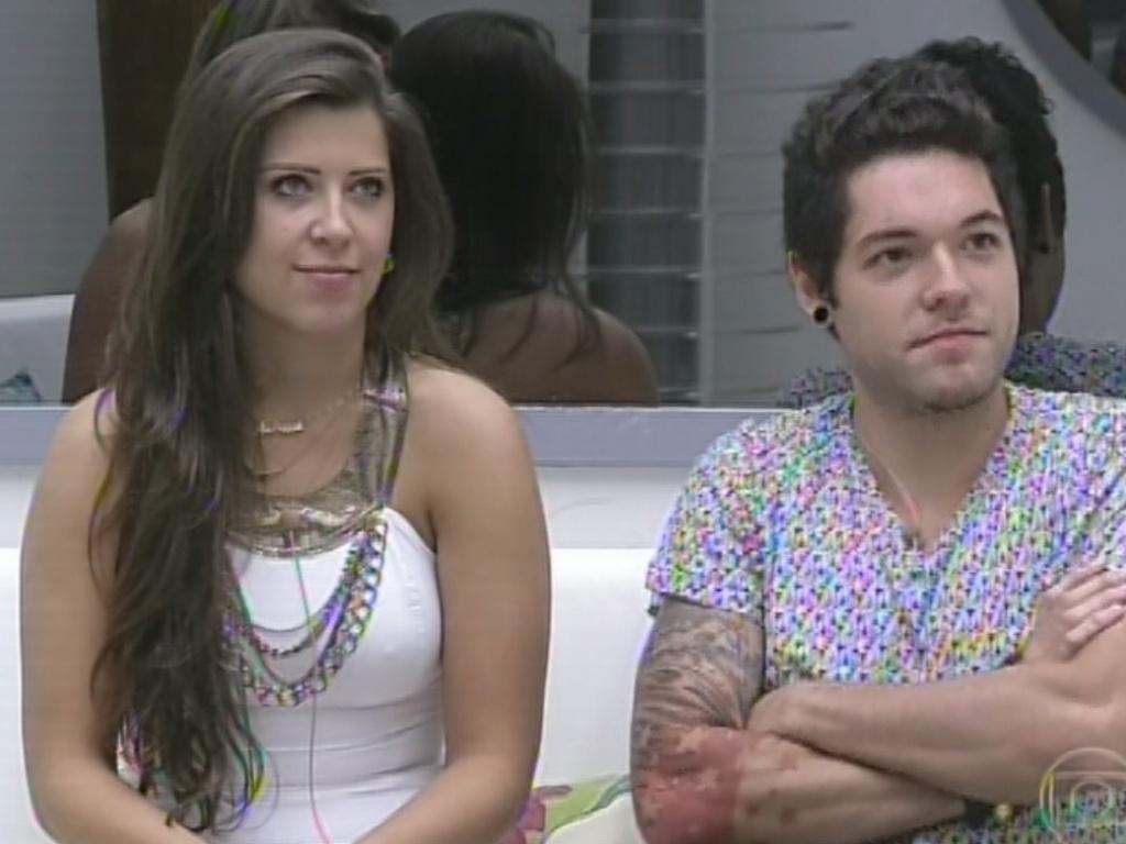 11.mar.2013 - No jogo da discórdia, Andressa acusa André e reclams de o brother não ter desejado boa sorte a ela