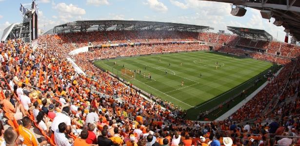 BBVA Stadium, do Houston Dynamo: crescimento de 18,77% na média de público - Divulgação/MLS