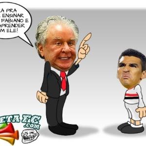 Corneta FC: Após expulsão, Lúcio leva bronca do chefe