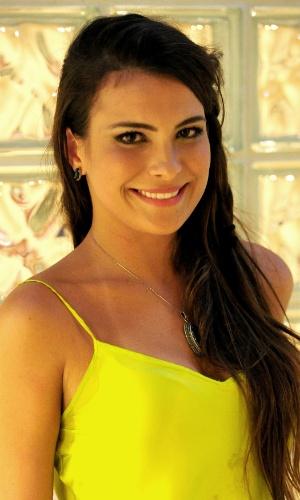12.mar.2013 - Após a eliminação, Kamilla deu entrevista a jornalistas e comentou sua participação no programa. Ela disse que assalta a geladeira quando está ansiosa e que não é porca