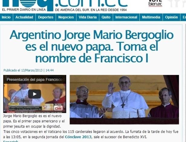 13.mar.2013 - O jornal equatoriano