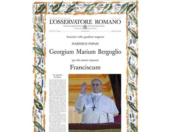 13.mar.2013 - Após o anúncio da escolha do cardeal argentino Jorge Mario Bergoglio para ser o novo papa, o jornal