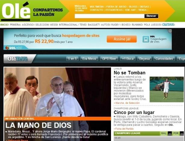 13.mar.2013 - O jornal esportivo argentino