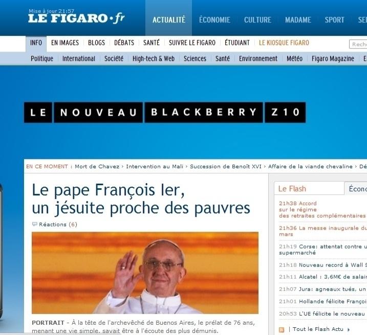 13.mar.2013 - O jornal francês