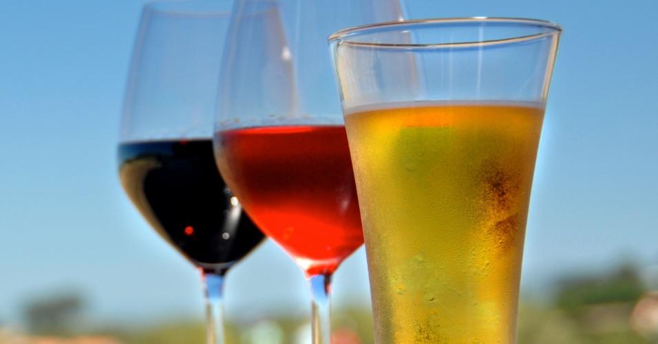 cerveja, vinho, vinho tinto, vinho rose