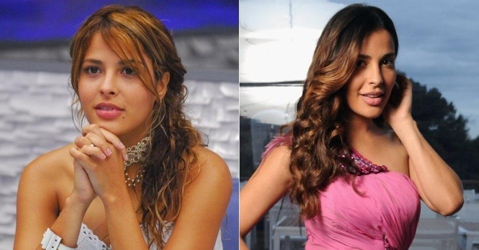 """Gyselle Soares, vice-campeã do """"BBB8"""", hoje tem os cabelos mais escuros e se tornou atriz na França, país onde morava antes de participar do reality"""