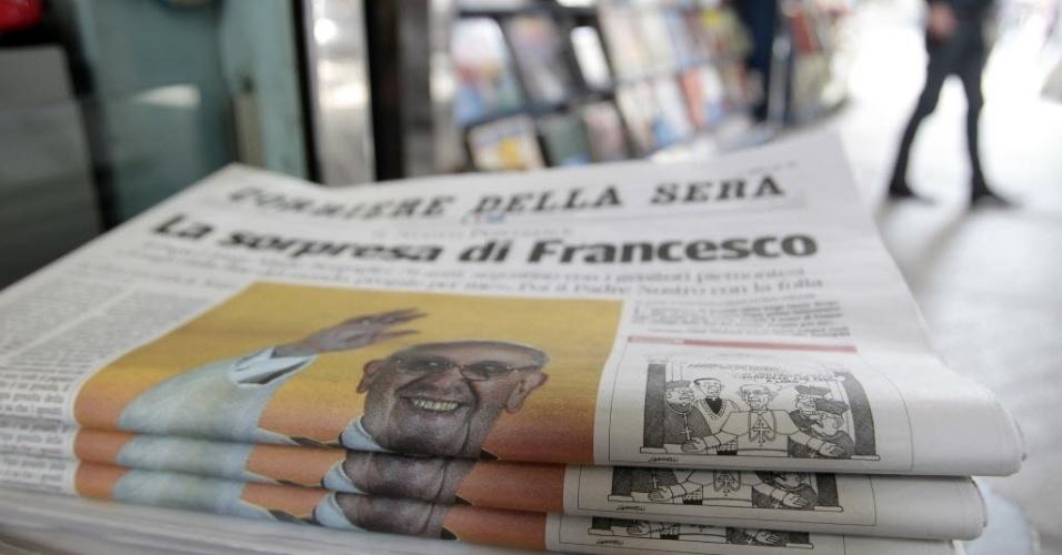 14.mar.2013 - A manchete desta quinta-feira (14) do jornal italiano