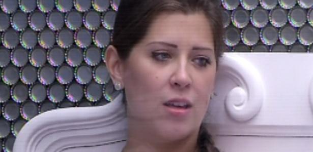 14.mar.2013 - Andressa teme por sua vida daqui uma semana, já que terá que conversar com o namorado de nove anos