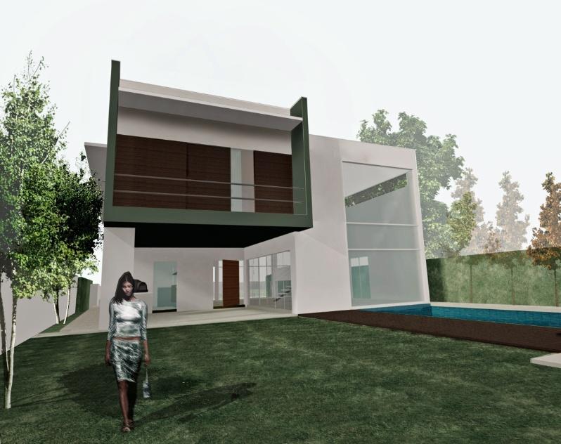 Croquis (autocad) da casa Acapulco - no Guarujá (SP) - projetada pelo arquiteto Flávio Castro