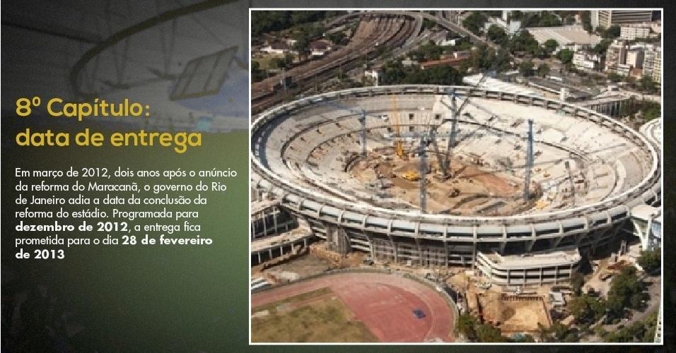15.mar.2012 - Foto mostra Maracanã no início de sua reconstrução para a Copa do Mundo de 2014