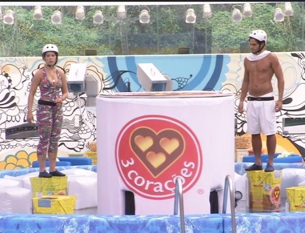 15.mar.2013 - Andressa e André permanecem na disputa pela liderança após 15 horas de prova